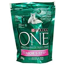 Purina One Junior 1-12 курица рис 300г